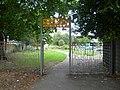Sculptured entrance to Beaversfield Park in Hounslow - Geograph 2558082.jpg