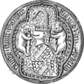 Seal of Sir Richard de Beauchamp, Earl of Warwick, died 1439.png