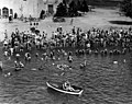 Seattle - Lifeguard and swimmers at Green Lake, 1930 (42875136714).jpg