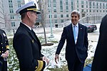 Secretary Kerry Chats With Vice Admiral Carter After Giving a Speech at the U.S. Naval Academy in Annapolis (31423616883).jpg