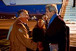 Secretary Kerry Speaks With U.S. Embassy Holy See Deputy Chief of Mission Bono Upon Arrival in Rome (31245711451).jpg
