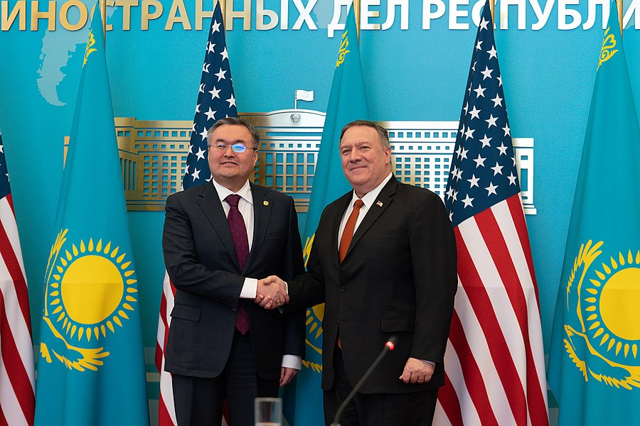 Secretary Pompeo Holds Press Conference With Foreign Minister Tileuberdi (49476590347).jpg
