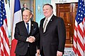 Secretary Pompeo Welcomes French Foreign Minister Le Drian to Washington (32066518347).jpg