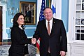 Secretary of State Pompeo shakes hands Panamanian Vice President and Foreign Minister Isabel Saint Malo (46073052975).jpg