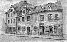 Wagners Geburtshaus (rechts) (Quelle: Wikimedia)