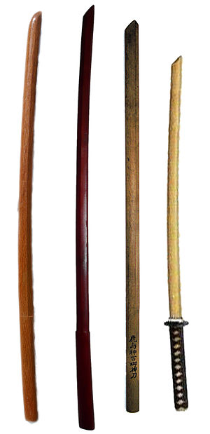 Bokken - Various styles of bokken
