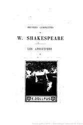 Œuvres complètes de W. Shakespeare, apocryphes, tome 2