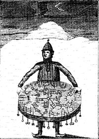Chamane Saami avec son tambour magique