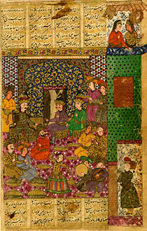 Shams al-Din Kirmani - Alexander the Great Received by the Khaqan of China - Walters W611232B - miniature.jpg