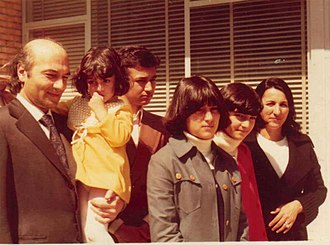 Ali Shariati - Ali Shariati and his family, one day after his release from prison.