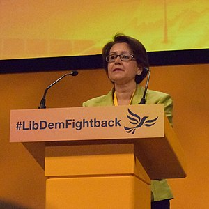 Shas Sheehan, Baroness Sheehan - Shas Sheehan speaking at a Liberal Democrat Conference in Bournemouth, 2015