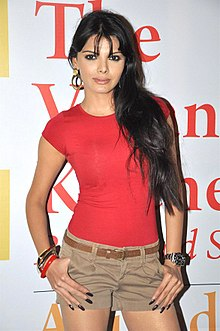 Sherlyn Chopra at the launch of Anuradha Sawhney's book 'The Vegan Kitchen Bollywood Style!' (01).jpg