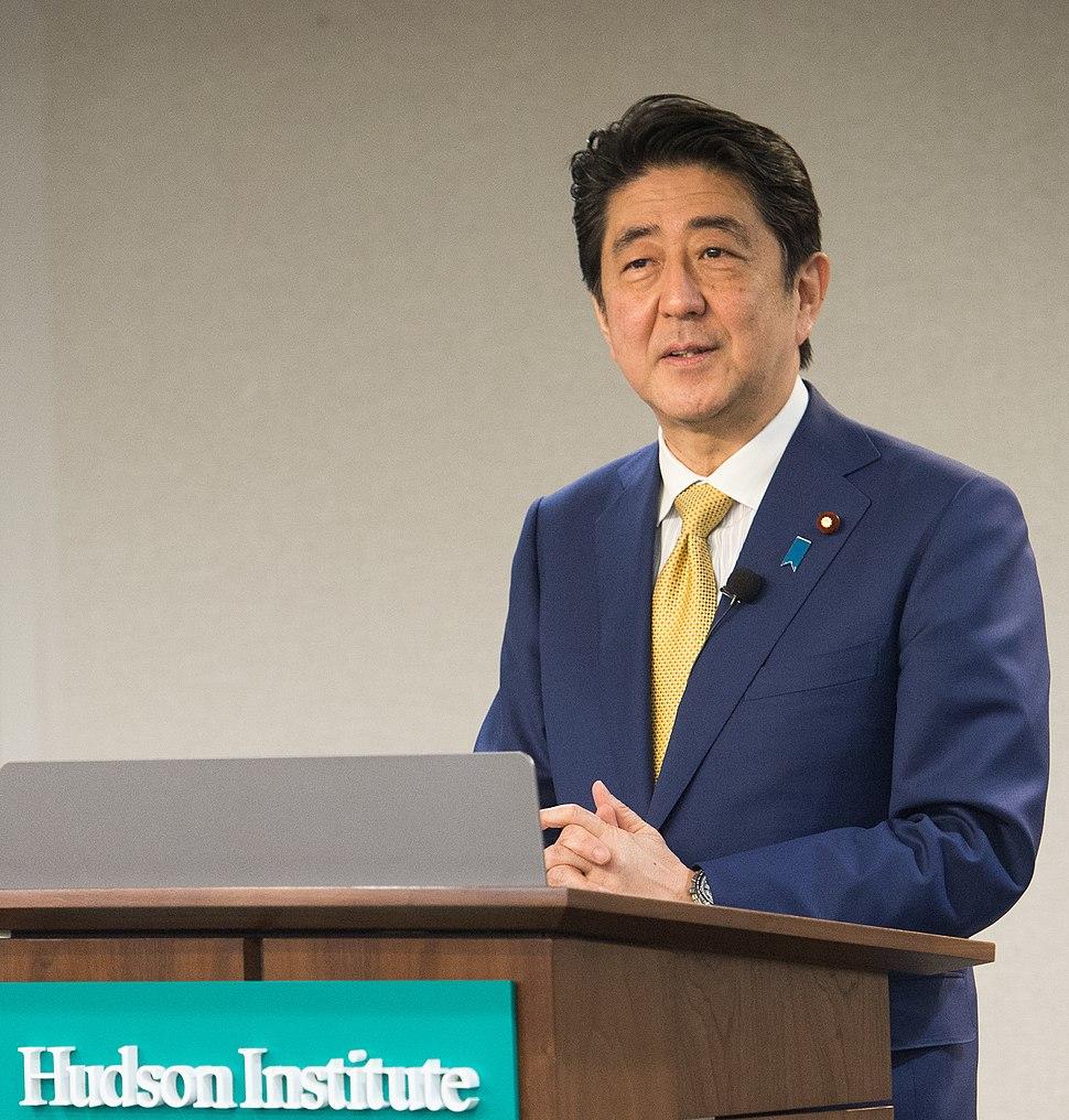 Shinz%C5%8D Abe at Hudson Institute 2016