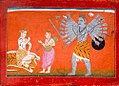 Shiva create virabhadra when Narada tell about death of sati.jpg