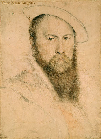 1542 in poetry - Thomas Wyatt the Elder died this year (Portrait of Sir Thomas Wyatt, by Hans Holbein the Younger, c. 1535–37)