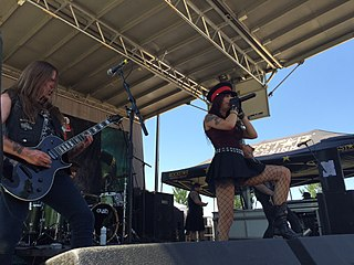 Sister Sin band that plays hard rock