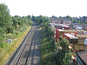 Coventry–Leamington line - Image: Site of former Kenilworth railway station in 2005