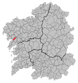 Situation of Noia within Galicia