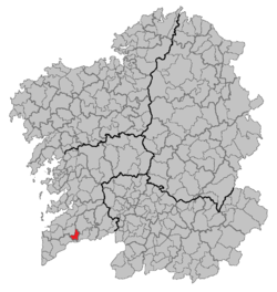 Location of the municipality of Salceda de Caselas within Galicia.