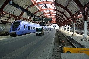 Malmö Central Station - Image: Skånetrafiken train at Malmö central station