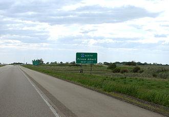 Saskatchewan Highway 2 - Highway 11-2 intersection
