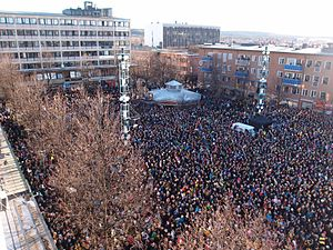 Skellefteå AIK - 10 000 citizens of Skellefteå, celebrating Skellefteå AIK's first Swedish Championship title in 35 years.