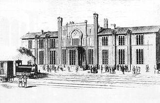Warsaw–Vienna railway - Skierniewice rail station (1872)