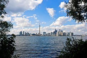 Toronto Islands - View of Toronto from Toronto Islands