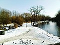 Snow on River Great Ouse, Feb 2009 - downstream.JPG