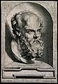 Socrates. Line engraving by P. Pontius, 1638, after Sir P. P Wellcome V0005528.jpg