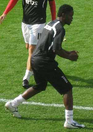 Sam Sodje - Sodje training with Charlton Athletic in 2009.