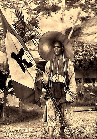 Black Flag Army - A soldier of the Black Flag Army, 1885