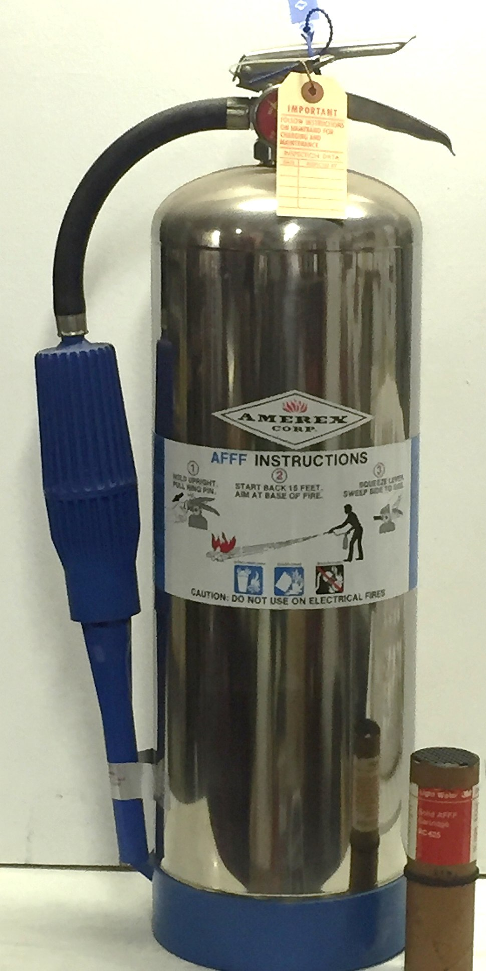 Solid-Charge AFFF Fire Extinguisher, 1980s