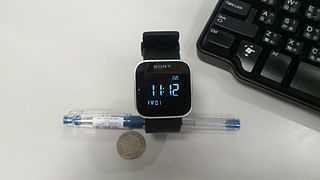 Sony SmartWatch wearable device that connects to an Android smartphone