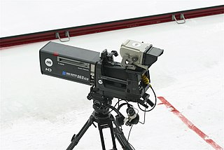 Professional video camera High-end camera for creating electronic moving images