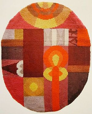 Sophie Taeuber-Arp - Oval Composition with Abstract Motifs, 1922