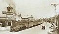 South Australian Railways locomotive 530 arrives with East-west Express at Ellen Street station, Port Pirie, 1953-54.jpg