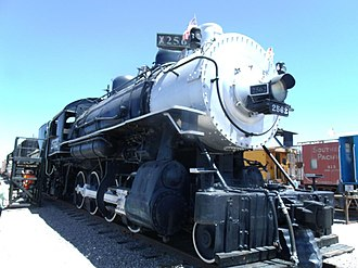 Arizona Railway Museum - Image: Southern Pacific Railroad Locomotive No. SP 2562