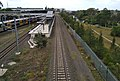 Southern Sydney Freight Line passing behind Liverpool railway station 20171231.jpg