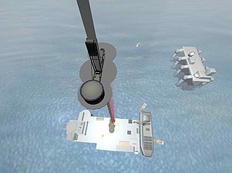 Megastructure - One concept for the space elevator has it tethered to a mobile seagoing platform.
