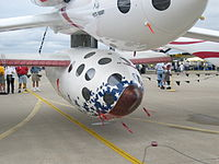SpaceShipOne pendante sub savanto