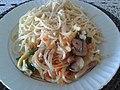 Spaghetti with mushrooms, onions, chard and eggs.jpg