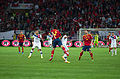 Spain - Chile - 10-09-2013 - Geneva - Arturo Vidal, Raul Albiol and Javi Garcia 1.jpg
