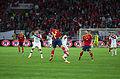 Spain - Chile - 10-09-2013 - Geneva - Arturo Vidal, Raul Albiol and Javi Garcia 1.jpg