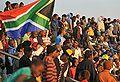 Spectators watching Brazil national football team train at Dobsonville Stadium 2010-06-03 5.jpg