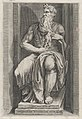 Speculum Romanae Magnificentiae- Moses after the sculpture by Michelangelo MET DP870092.jpg
