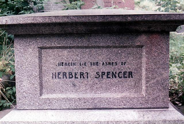 Могила Герберта Спенсера на Хайгейтском кладбище