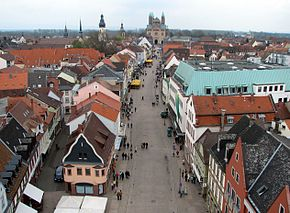 Speyer main street and cathedral from the old gate.jpg