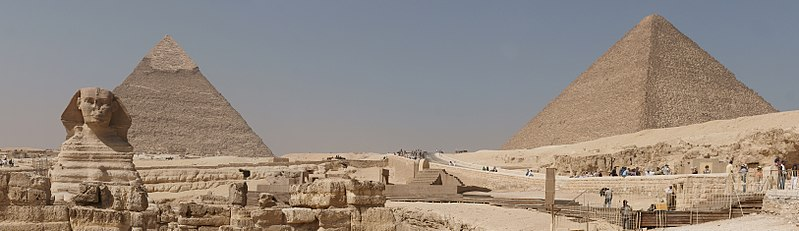 File:Sphinx and pyramids of Giza panorama.jpg