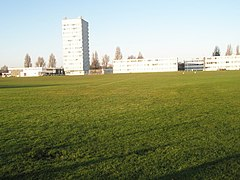 Sports field in front of University of Portsmouth Halls of Residence - geograph.org.uk - 1071294